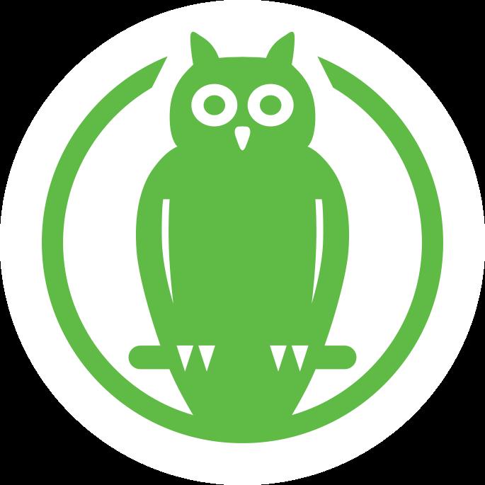Piktorgramm Naturschutz, grüne Eule