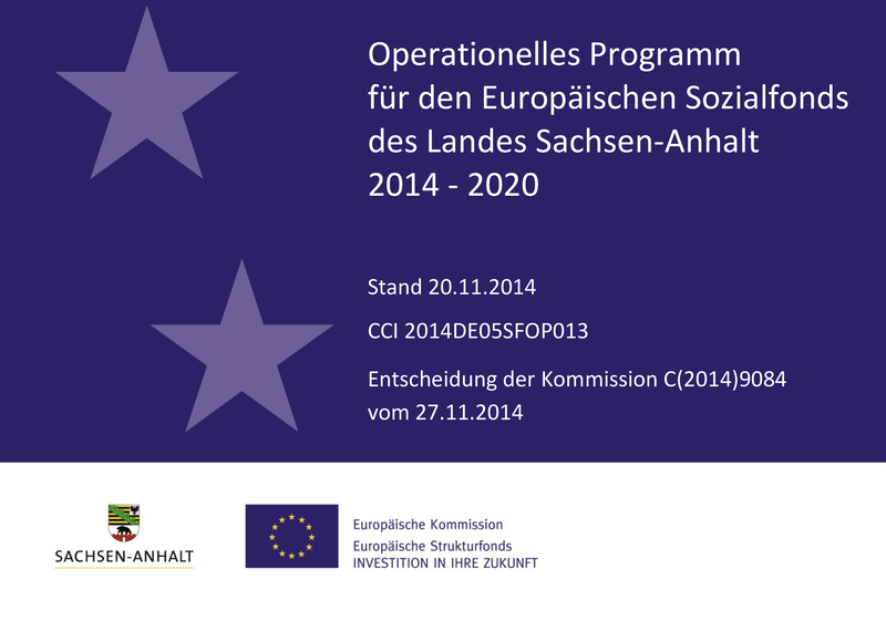 Titelbild Operationelles Programm ESF