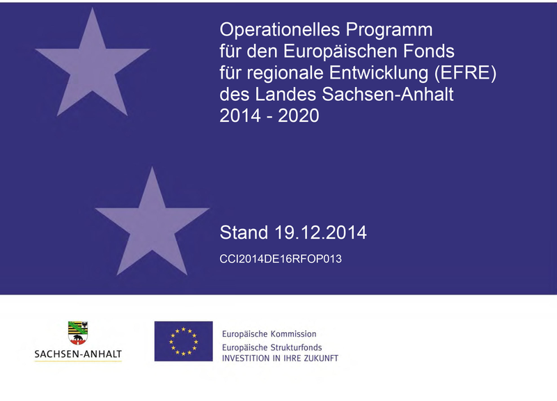 Titelbild operationelles Programm EFRE